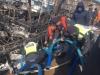 울진해경서장, 축산항 화재선박 관련 침몰방지 현장 수습