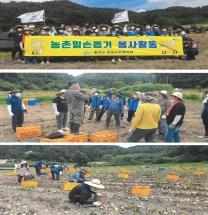 울진군공공노조협의회, 농촌일손돕기 봉사활동 나눔 실천